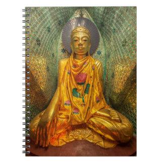 Golden Buddha In Temple Spiral Notebook