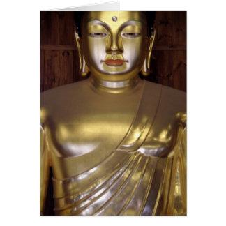 Golden Buddha Note Card