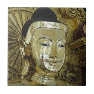 Golden Buddha Statue Inspirational Love Tile