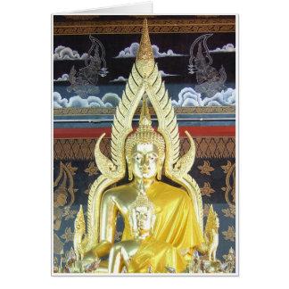 Golden Buddhas Card