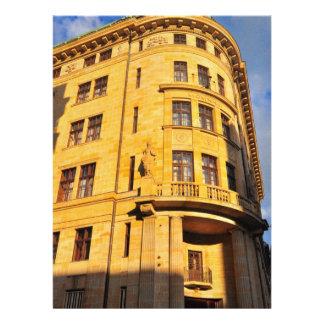 Golden building invitation