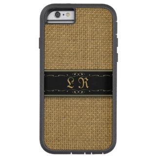 Golden Burlap iPhone 6 Custom Monogram Case