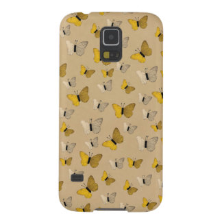Golden Butterflies Rustic Gold Yellow Butterfly Galaxy S5 Cover