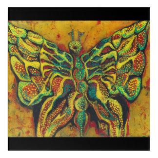 Golden Butterfly Acrylic Wallart Acrylic Print