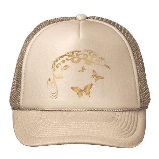Golden Butterfly Cap