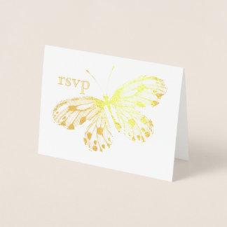 Golden Butterfly RSVP Foil Card