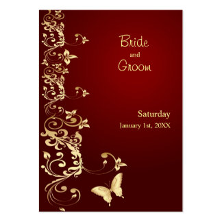 Golden Butterfly Save the Date for Weddings Pack Of Chubby Business Cards