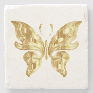 GOLDEN BUTTERFLY STONE COASTER