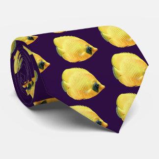 Golden butterflyfish tie