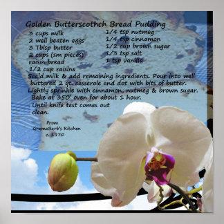 Golden Butterscotch Bread Pudding Recipe Poster