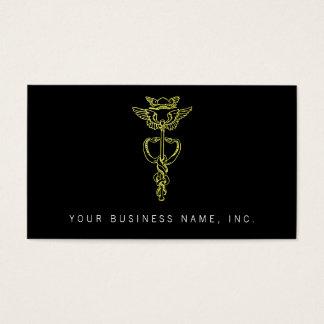 Golden Caduceus Business Card