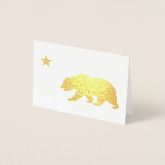 Golden California Christmas Foil Card