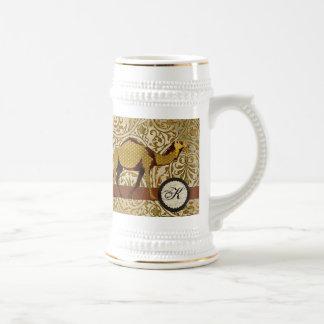 Golden Camel Monogram  Stein Mug