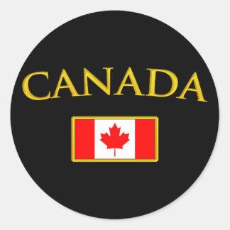 Golden Canada Classic Round Sticker