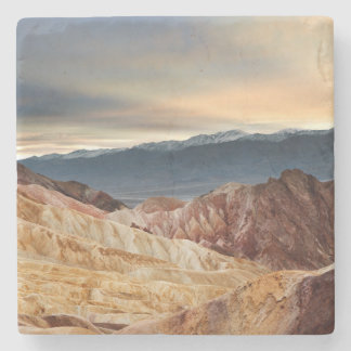 Golden Canyon at Sunset Stone Coaster