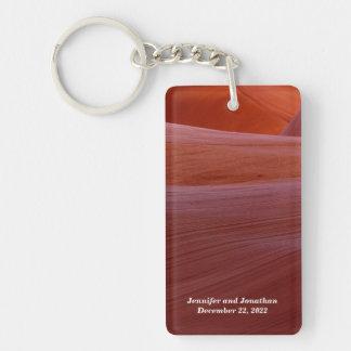 Golden Canyon Swirl Keychain Single-Sided Rectangular Acrylic Keychain