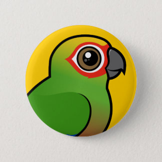 Golden-capped Parakeet 6 Cm Round Badge