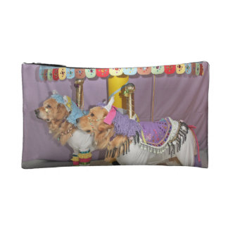 Golden Carousel Cosmetic Bag