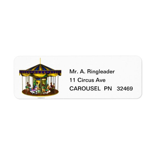 Golden Carousel Return Address Labels