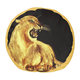 GOLDEN CAT POUF