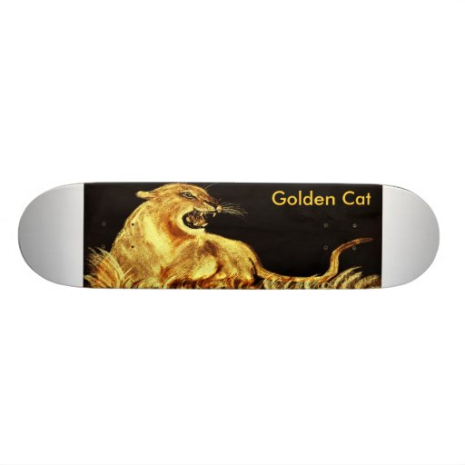 golden cat skateboard, Golden Cat