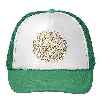 Golden Celtic Knot Mesh Hats