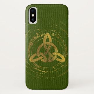 Golden Celtic Knot iPhone X Case