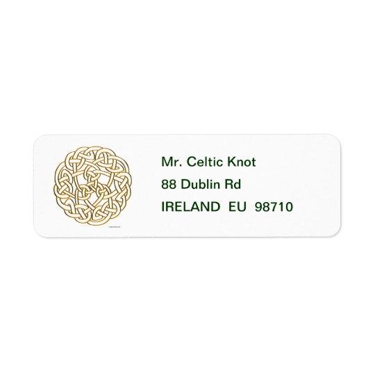 Golden Celtic Knot Return Address Label