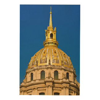 Golden Chapel Dome, Paris, France Wood Print
