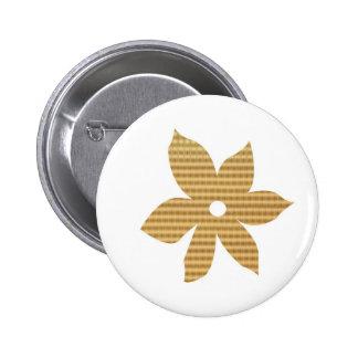 Golden CHARM Jewel Leaf Flower Pattern Pin