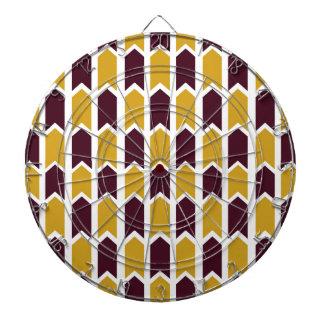 Golden Checkered Panel Fence Dart Board