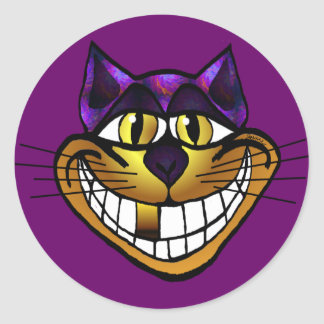 Golden Cheshire Cat Sticker