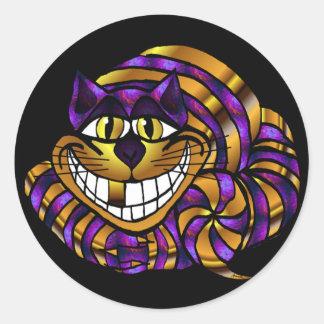 Golden Cheshire Cat Sticker