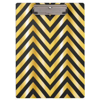 Golden chevron grandiose art deco clipboard