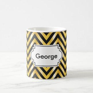 Golden chevron grandiose art deco coffee mug