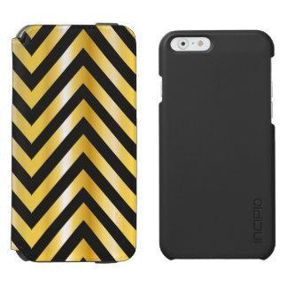 Golden chevron grandiose art deco incipio watson™ iPhone 6 wallet case