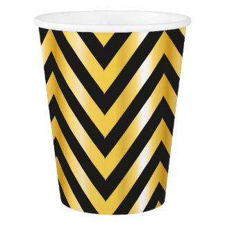 Golden chevron grandiose art deco paper cup