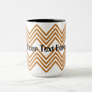 Golden chevron Mug