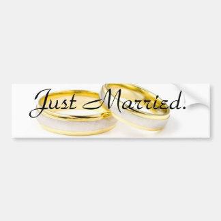 Golden Chic Stylish Bridal Shower Bumper Sticker