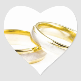Golden Chic Stylish Bridal Shower Heart Sticker