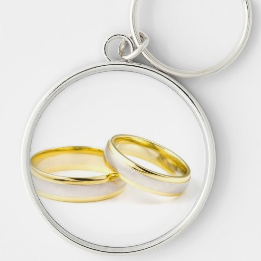 Golden Chic Stylish Bridal Shower Keychain