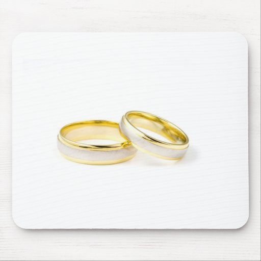 Golden Chic Stylish Bridal Shower Mouse Pads