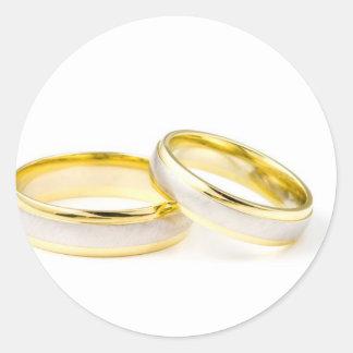 Golden Chic Stylish Bridal Shower Round Stickers