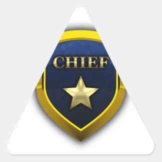 Golden Chief Badge Triangle Sticker