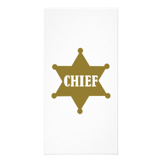 Golden chief star picture card
