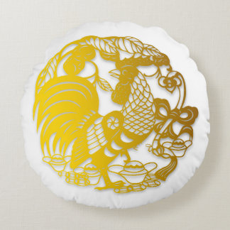 Golden Chinese New Year of Rooster 2017 R Pillow
