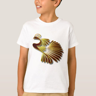 Golden Chocolate Jewel Peacock With Gold Shadows T-Shirt