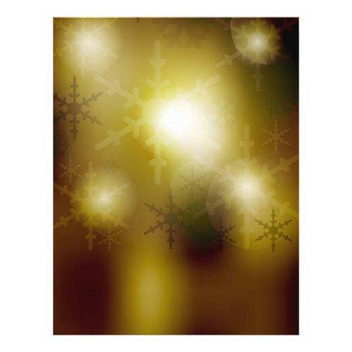 Golden Christmas Background Flyers