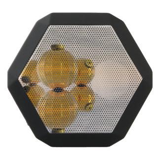 Golden Christmas balls - 3D render Black Bluetooth Speaker