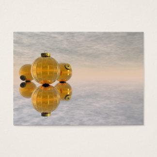 Golden Christmas balls - 3D render Business Card